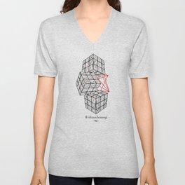 Cube Unisex V-Neck