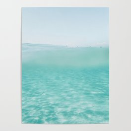 Summer waves on the perfect beach Poster