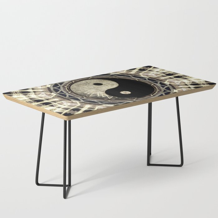 Yin Yang Geometry Mandala V1 Coffee Table