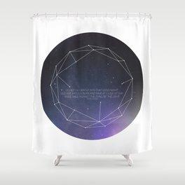 Light (Constellation) Shower Curtain