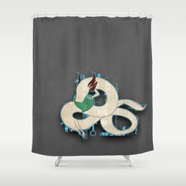 Digital Olm Shower Curtain