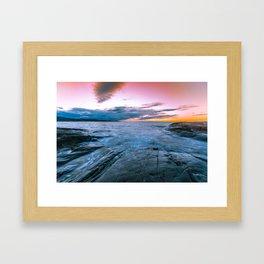 Arctic sunset Framed Art Print