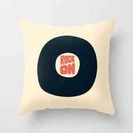 Rock on Vinyl Throw Pillow