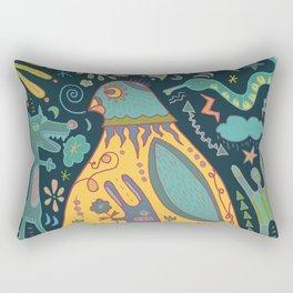 Chatty Yellow Bird Rectangular Pillow