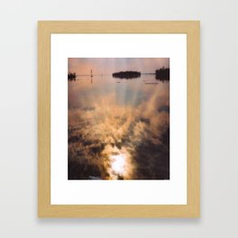 spring reflection Framed Art Print