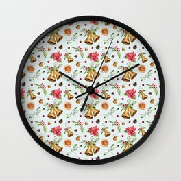 Merry Christmas and happy New Year! Wall Clock