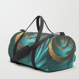 Beautiful Corded Leather Turquoise Fractal Bangles Duffle Bag