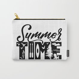 Summer TIME at the Lake Black Carry-All Pouch