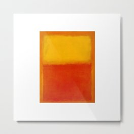 1956 Orange and Yellow by Mark Rothko Metal Print