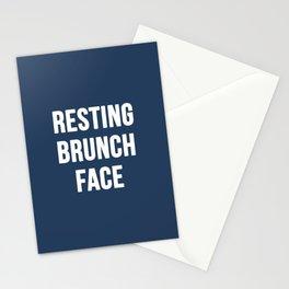 Resting Brunch Face Stationery Cards