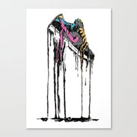 shoe Canvas Prints featuring SHOE by maivisto