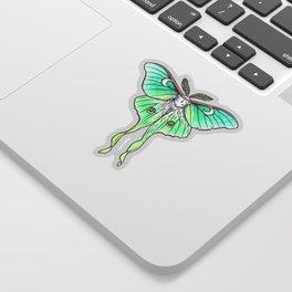 Moth of the Blue Moon Sticker