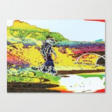 Snow Boarding Canvas Print