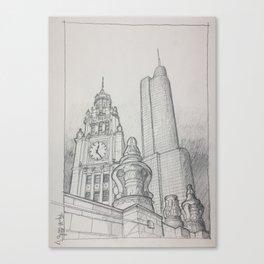 Chicago - Wrigley Clock Canvas Print