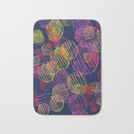pencil circles Bath Mat
