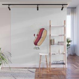 Hot Dog's Identity Crisis Wall Mural