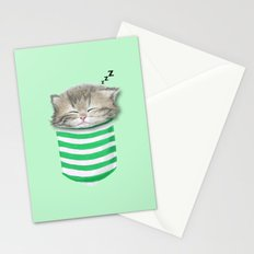 Cat in the Pocket Stationery Cards