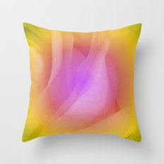 Abstract rose 2 Throw Pillow