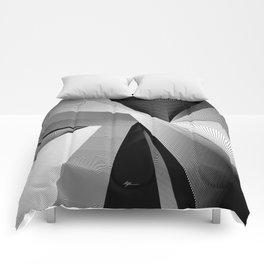 Geometric Disarray Comforters