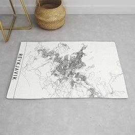 Reykjavik White Map Rug
