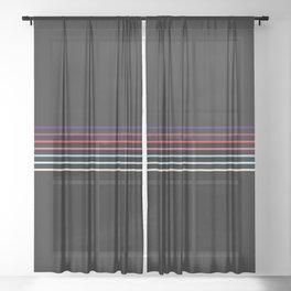 Pop Colored Fine Lines Sheer Curtain