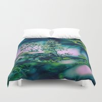 insect Duvet Covers featuring Little Insect by Elizabeth Padilla