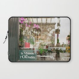Paris Flower Shop Window Laptop Sleeve