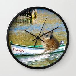 Rudolph at Sea Wall Clock