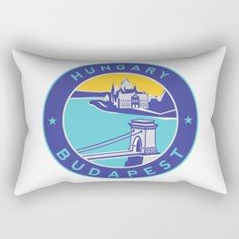 Budapest, Hungary, blue circle Rectangular Pillow