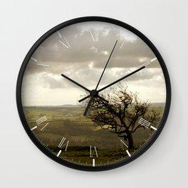 Wind Swept Tree Wall Clock