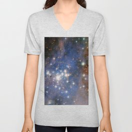 Star cluster Trumpler 14 in the Milky Way (NASA/ESA Hubble Space Telescope) Unisex V-Neck