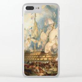 """J.M.W. Turner """"The Battle of Trafalgar"""" Clear iPhone Case"""