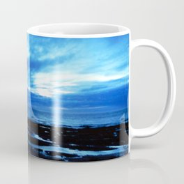 Arm from Above Plays with the Sunset Coffee Mug