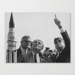 Von Braun and JFK Looking Towards The Sky Canvas Print