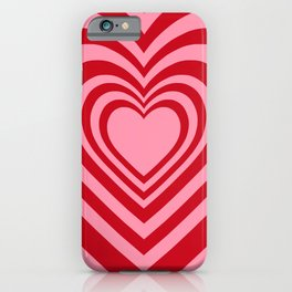 Beating Heart Red and Pink iPhone Case