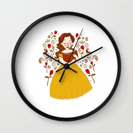 Rumbelle - Belle bookworm Wall Clock