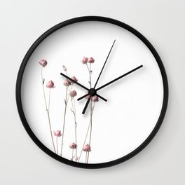 Pink Linum II Wall Clock
