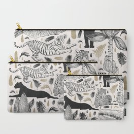 Wild Cats and Botanicals Carry-All Pouch