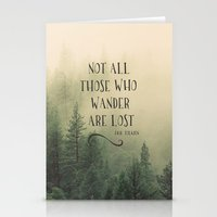 tolkien Stationery Cards featuring Not all those who wander are lost - JRR Tolkien  by JD84