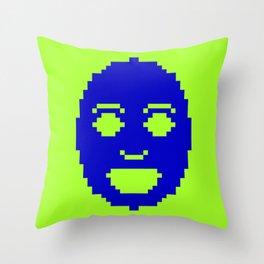 Pixel Face Throw Pillow