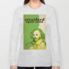 stratford upon avon Shakespeare vintage travel poster Long Sleeve T-shirt