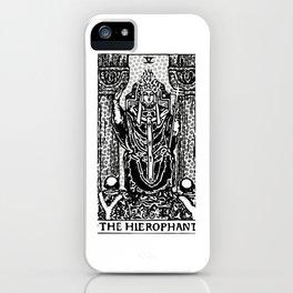 Modern Tarot Design - 5 The Hierophant iPhone Case