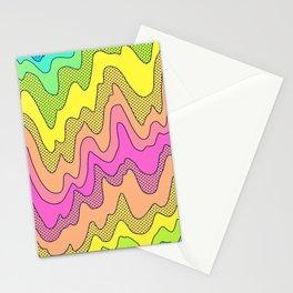 Ooo Ahh Melty Neon Rainbow Stationery Cards