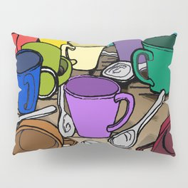 Cups and Spoons Pillow Sham
