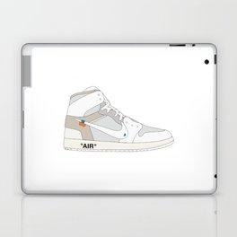 "N I K E AIR JORDAN THE 10: AIR JORDAN 1 ""OFF-WHITE"" White Laptop & iPad Skin"