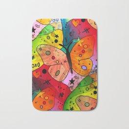Sweet Butterfly by Nico Bielow Bath Mat