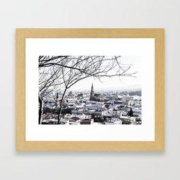 Cluj Under Snow Framed Art Print