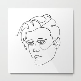 Justin - single line art Metal Print
