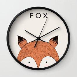 Fox I Wall Clock