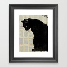 CAT BLACK Framed Art Print